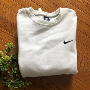 NWOT White Nike Swoosh Crewneck Sweatshirt